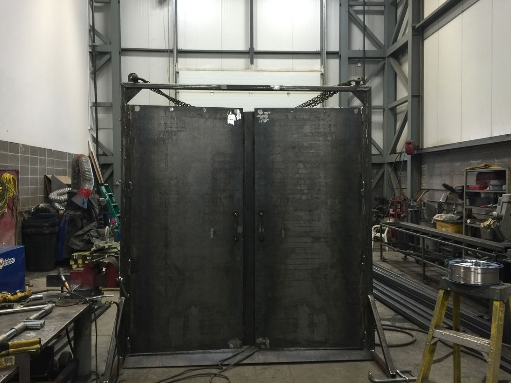 This is one set of the doors for the safety enclosure.